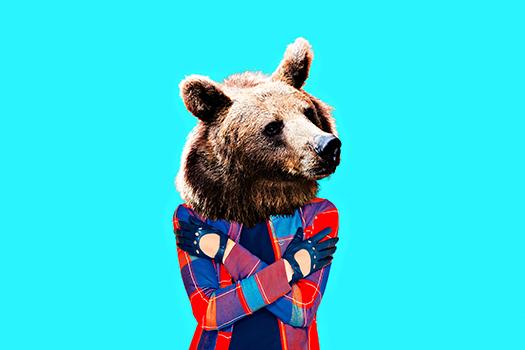 hipster bear - Evgeniya Porechenskaya - Shutterstock