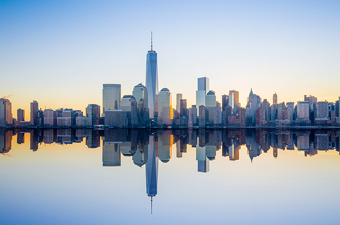 new york city skyline - hudson river - photo by f11photo - shutterstock