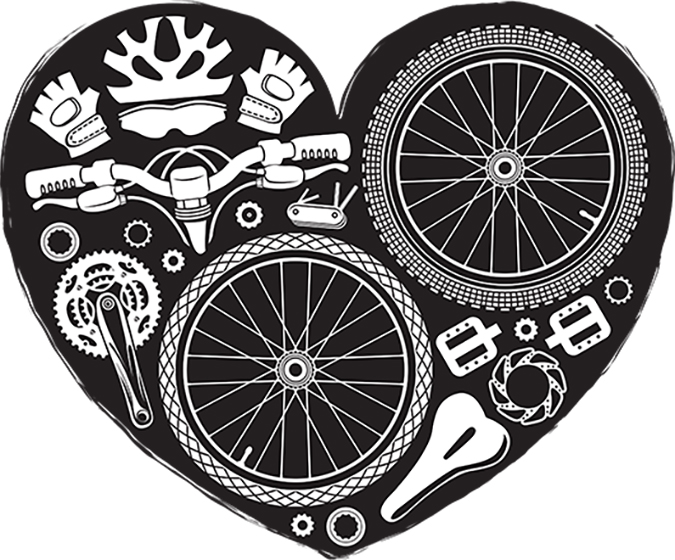 bike parts heart shape vector - iurii kalmatsui - Shutterstock