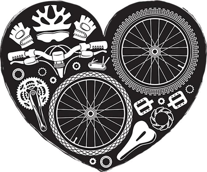 bike parts heart shape vector - iurii kalmatsui - Shutterstock