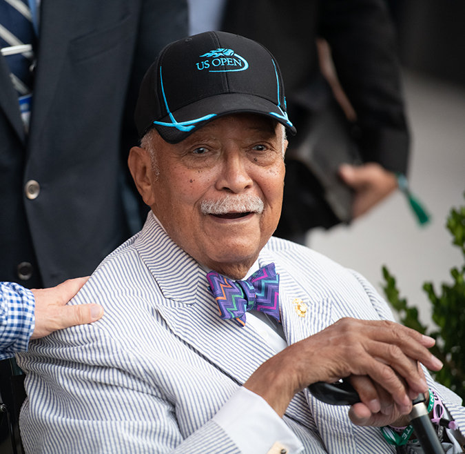 04Sep2019USOpen_0431 - Former NYC Mayor David Dinkins - Photo by Neil Bainton