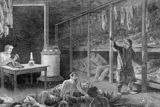 1882 flophouse illustration - Everett Historical - Shutterstock