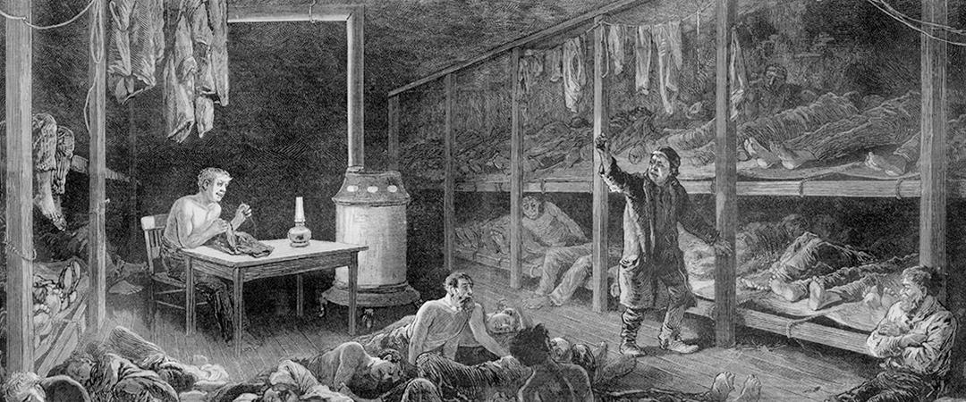 1882 flophouse illustration - Everett Historical - Shutterstock