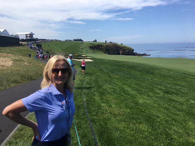 Ann Liguori at Pebble Beach Golf Resort ©Ann Liguori
