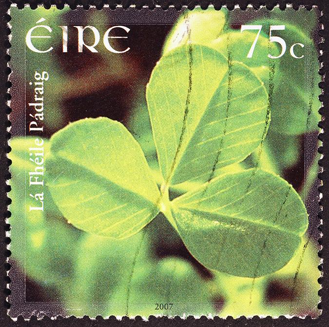 irish postage stamp - spatuletail - Shutterstock