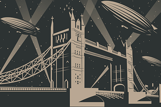 london zeppelins art - koyash07 - Shutterstock