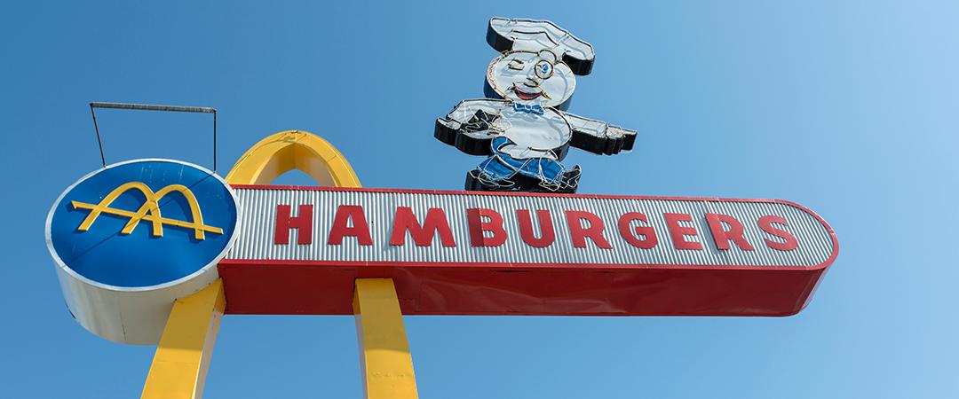 old mcdonald signage - tishomir - Shutterstock