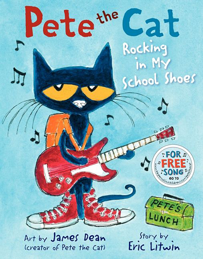 pete the cat - rocking in my school shoes - book cover - harpercollins