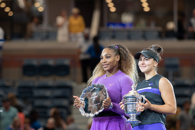 07Sep2019USOpen_3605 - Serena Williams and Bianca Andreescu - Photo by Neil Bainton