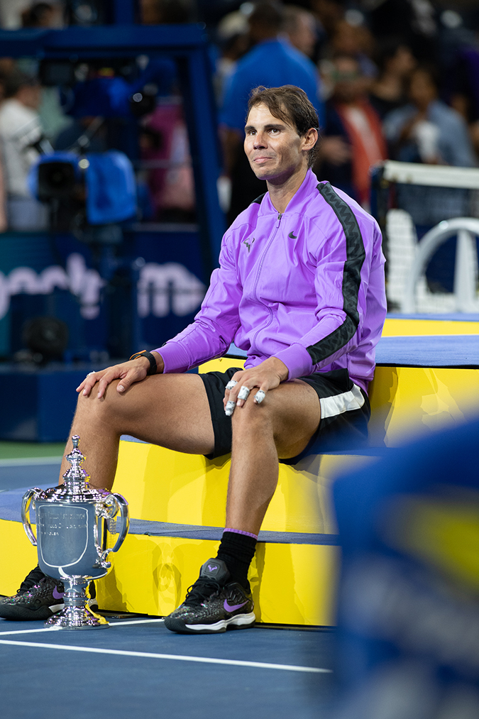 08Sep2019USOpen_4559 - rafael nadal - with trophy - sitting - day 14 - photo by neil bainton
