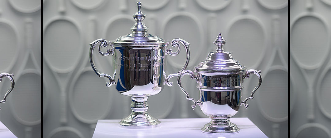 2019 us open championship open trophies - composite image - center image by neil bainton