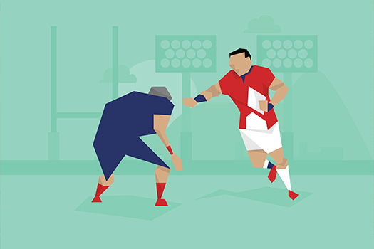 rugby player illustration - Monkey Business Images - Shutterstock