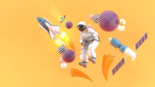 shutterstock_1445020919 - astronaut surrounded - art - Garfieldbigberm - Shutterstock