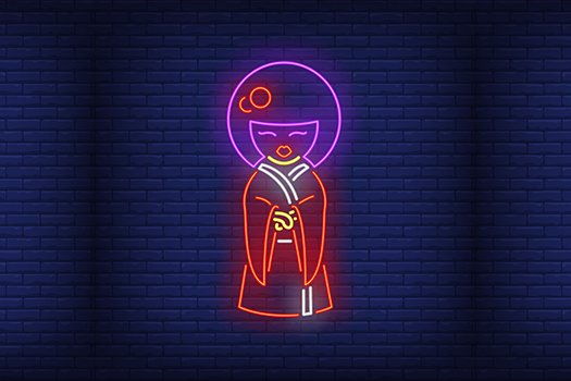 Neon Geisha - RedlineVector - Shutterstock