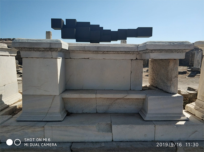anthony gormley - sight installation - delos - greece - 2019 - 2