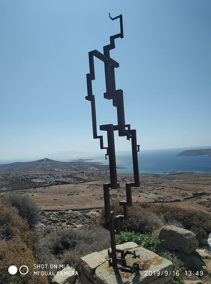 anthony gormley - sight installation - delos - greece - 2019 - photo by alice lonfat-chu - 4