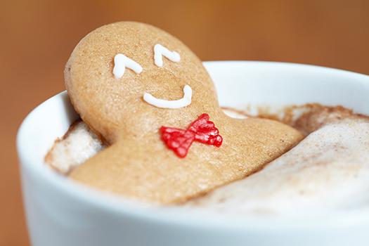 cookie in a cappuccino - Elena Shashkina - Shutterstock