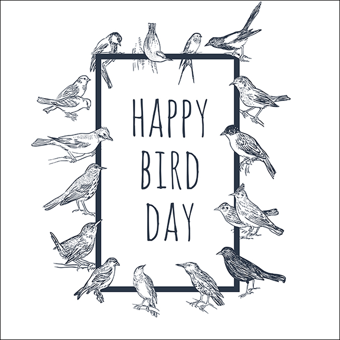 happy bird day - art - Irina Simkina - Shutterstock copy