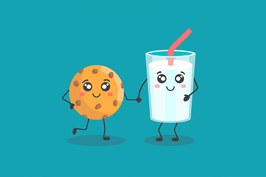 milk and cookie - Nansy Unicorn - Shutterstock