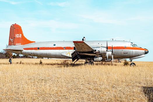 plane on farm - Andrew Stoup - Shutterstock