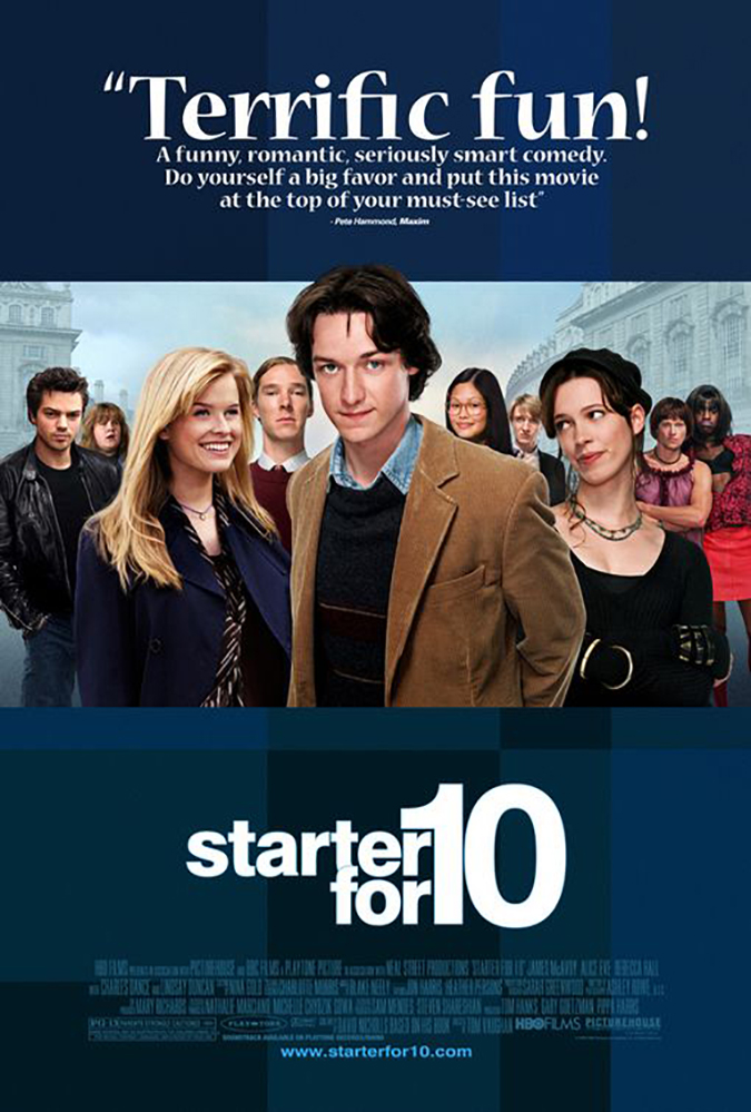 starter for 10 - james mcavoy - hbo studios - poster by the refinery