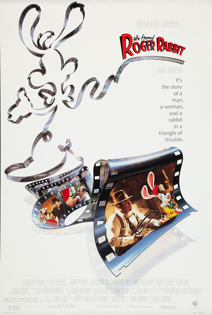 who framed roger rabbit poster - walt disney studios