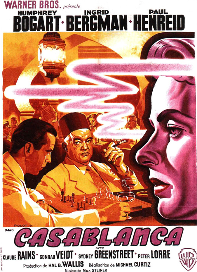casablanca movie poster - warner brothers - featured on impawards dot com - embed