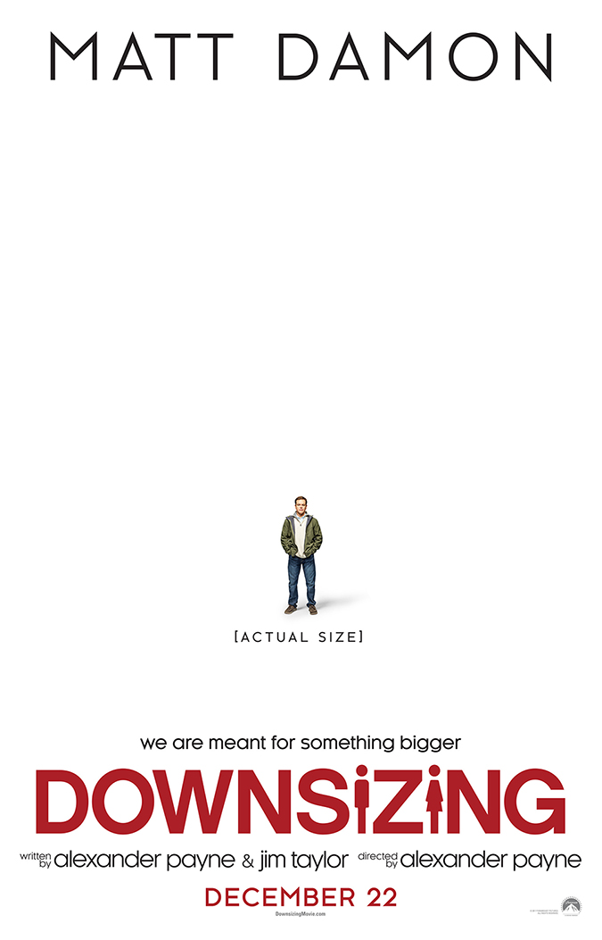 downsizing - movie poster - paramount pictures - movie review - embed