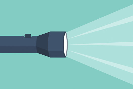 flashlight vector - art by hvostik - shutterstock