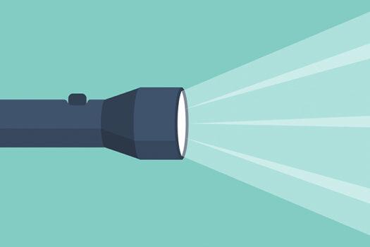 flashlight vector - art by hvostik - shutterstock