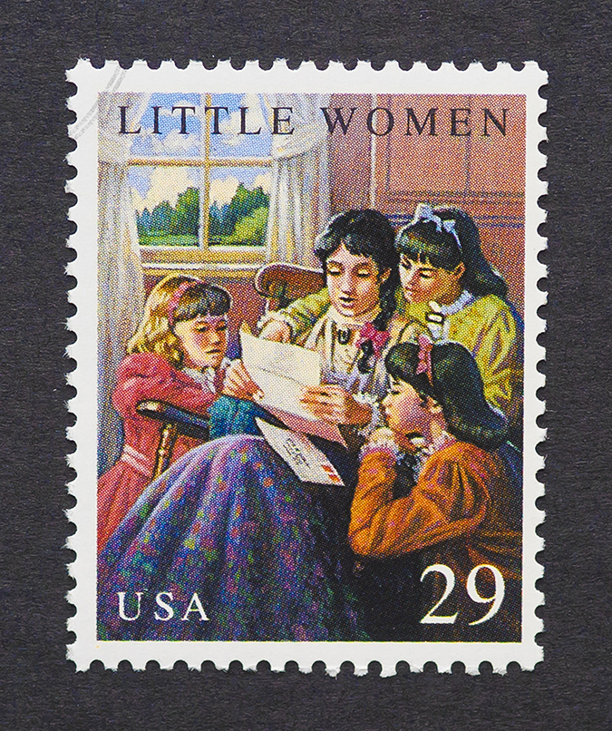 little women - us postage stamp - image by catwalker - shutterstock - embed