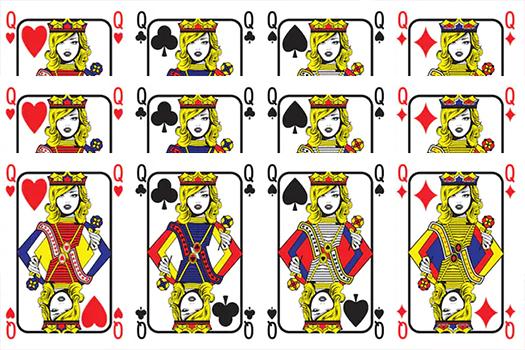 pop art queen cards - by gal amar - shutterstock