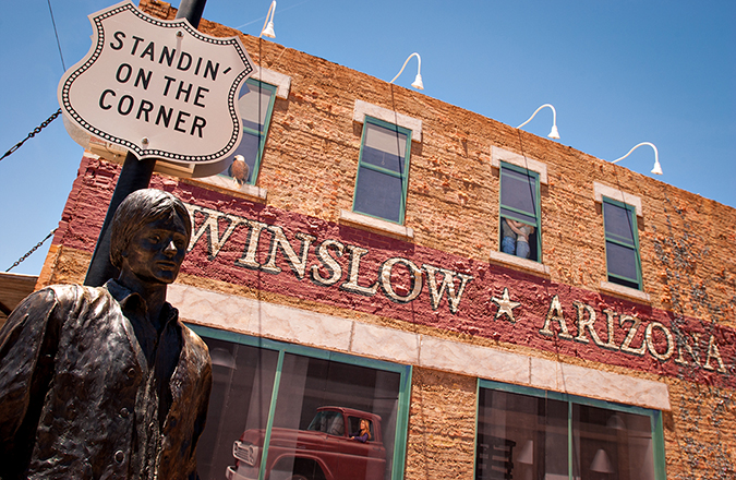 standin on the corner - winslow - arizona - photo by Mark Skalny - Shutterstock - embed