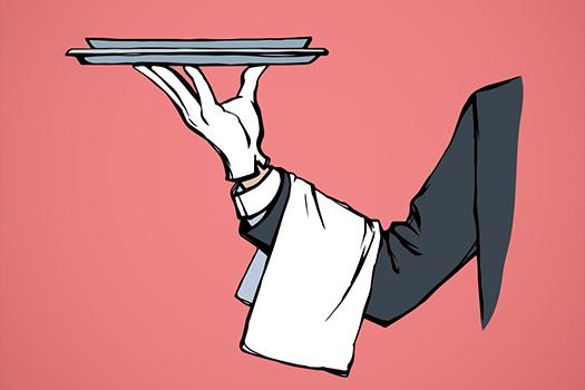 butler service art - by ArtMari - Shutterstock