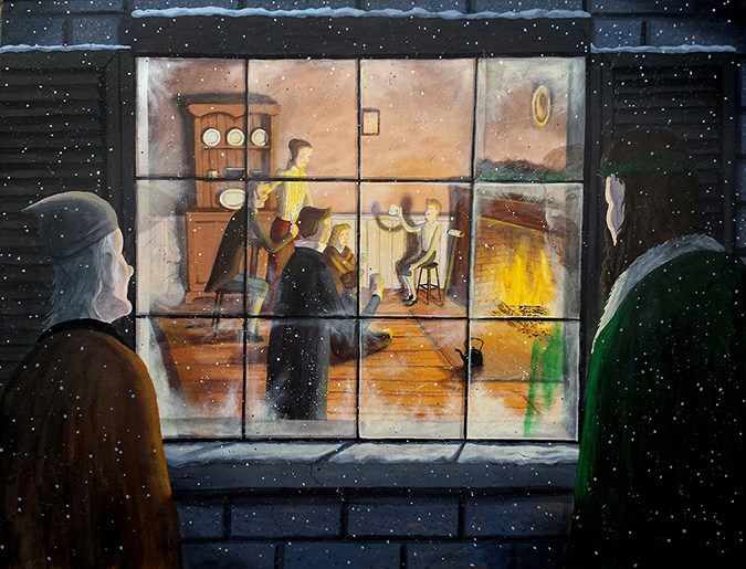 christmas carol art - by Dave Rheaume Artist - Shutterstock- embed