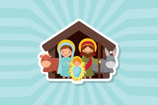 christmas - nativity scene - art by gst - Shutterstock