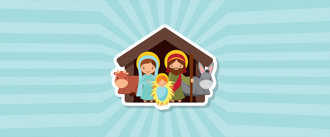 christmas - nativity scene - art by gst - Shutterstock