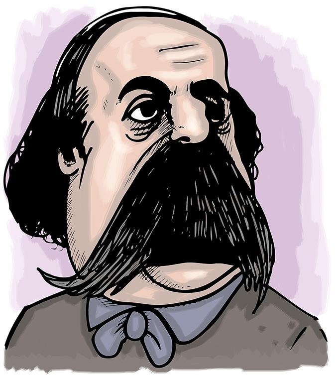 gustauve flaubert caricature - Seba Armstrong - Shutterstock - embed