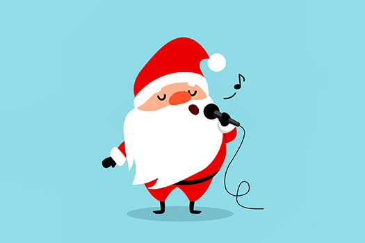 santa singing - art by SMSka - Shutterstock