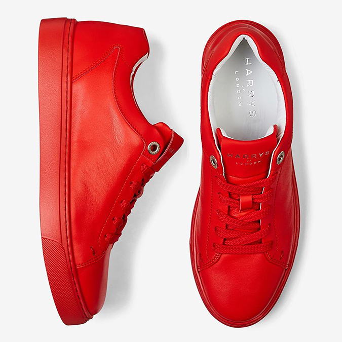 Grace Nappa Red Pair - Harrys of London - sneakers - trainers - embed