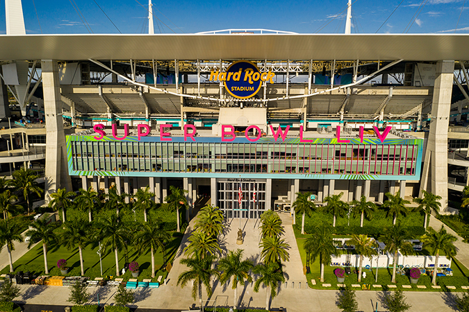 a guide to understanding the super bowl - super bowl 54 - photo of stadium by Felix Mizioznikov - Shutterstock - embed