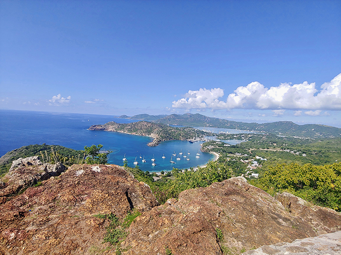 antigua - the view from shirley heights - photo by laura lavelle for newswhistle