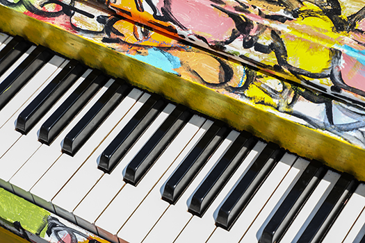 colorful piano keys - Steven Tucker - Shutterstock