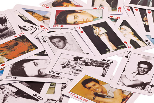 elvis playing cards - photo by Dan Kosmayer - Shutterstock