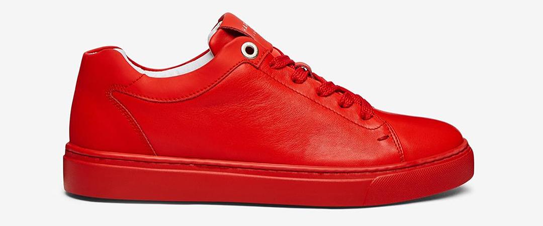 grace nappa red - harrys of london - sneaker - feature