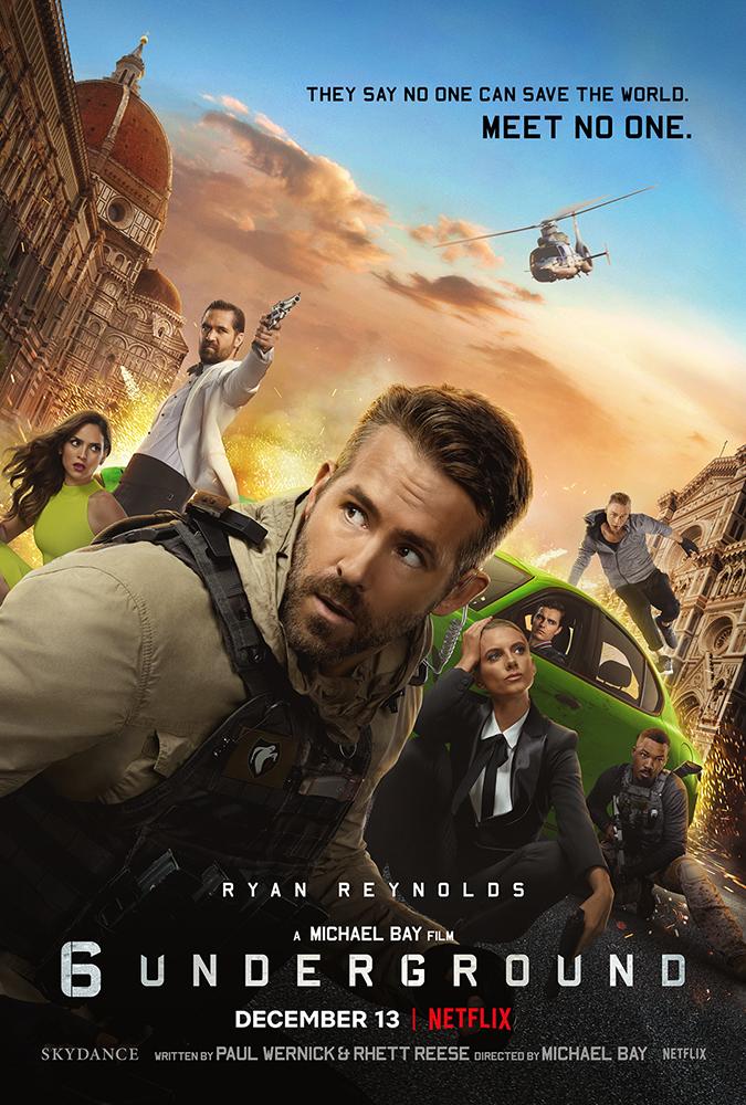 six underground movie poster - netflix - embed