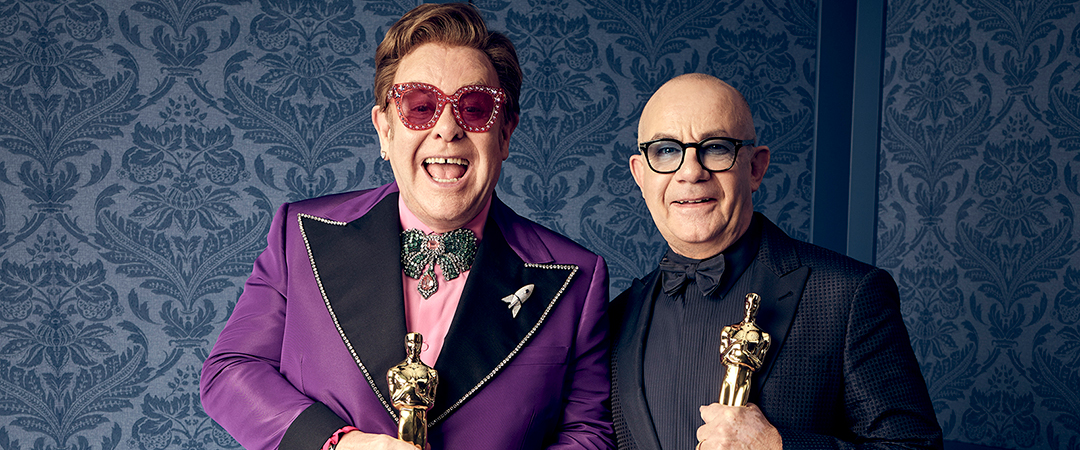 Feature - Oscar® winners Elton John and Bernie Taupin during the 92nd Oscars® - Jeff Lipsky - ©A.M.P.A.S