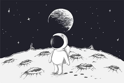cute astronaut - galacticus - shutterstock