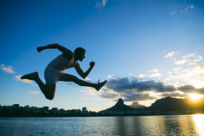 leaping man - lazyllama - Shutterstock - embed