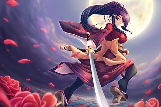 rose samurai - maxwindy - Shutterstock